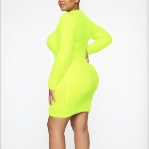 Fashion Nova Dresses - 💛 NWT FASHION NOVA CURVE NEON DRESS 3X